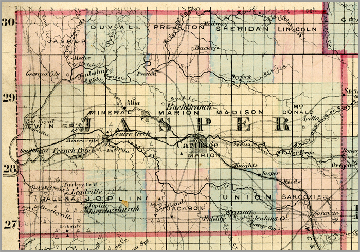 Ozarks Civil War Counties