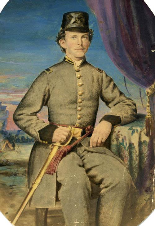 Joseph Dean sitting in uniform